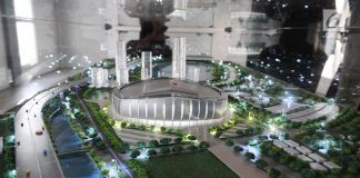 Maket Jakarta International Stadium JIS Anies Baswedan
