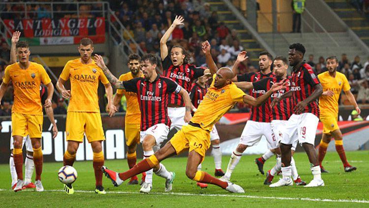 Prediksi Pertandingan Liga Italia Serie AC Milan vs AS Roma