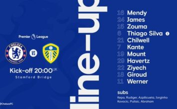 Perkiraan Susunan Pemain Chelsea Vs Leeds United